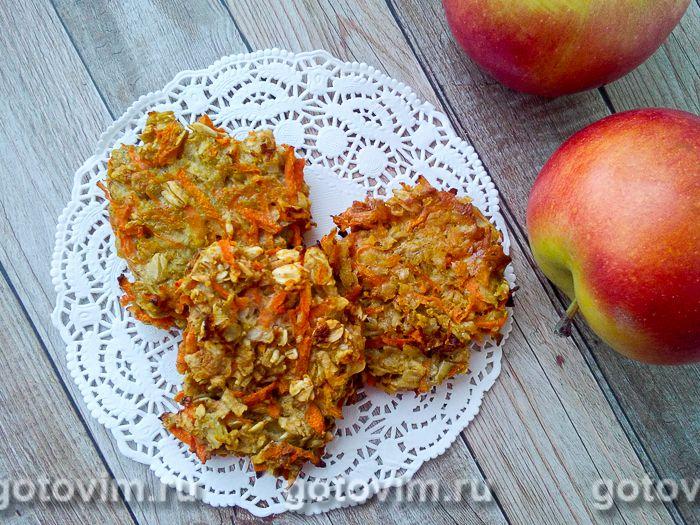 рецепт овсяное печенья с яблоками и морковью