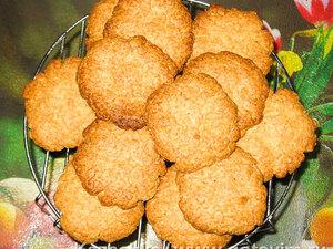 Овсяное печенье из молотых овсяных хлопьев