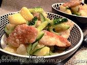 Салат из рыбы пангасиус с хреном