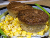 Куриный печеночный паштет с зеленым горошком