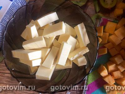Паста с тыквой и плавленым сыром, Шаг 01