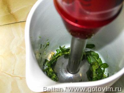 Фотографии рецепта Паста с песто и сливочным соусом с беконом, Шаг 01