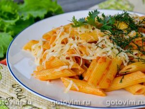 Макароны с соусом аррабиата (Pasta All'Arrabiata)