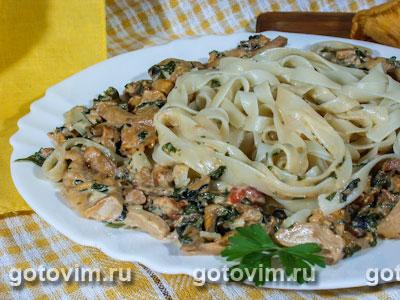Телятина в сливочном соусе с грибами рецепт с фото - 1000.menu
