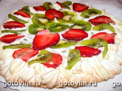 Торт «Павлова». Фотография рецепта