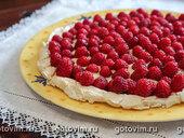 Торт «Павлова» с малиновым конфитюром и заварным кремом