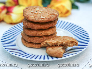 Печенье с белым шоколадом и грецкими орехами
