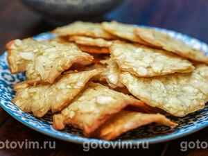 Миндальное печенье «Черепица» (Тюиль)