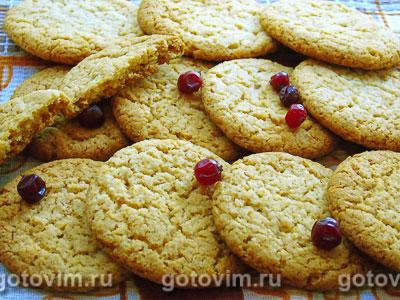 Печенье с имбирем и медом. Фотография рецепта