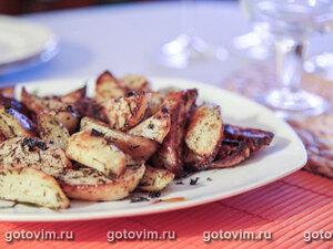 Печеный картофель с итальянскими травами