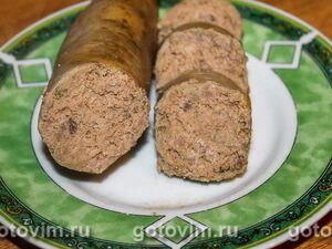 Печеночная колбаса в мультиварке