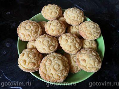 Печенье из манки с яблоком