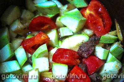 Печень терияки с грушей и овощами, Шаг 05
