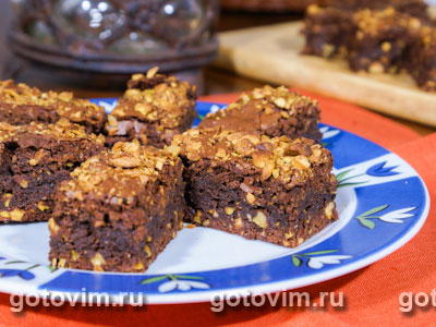 Шоколадное печенье с фисташками. Фотография рецепта
