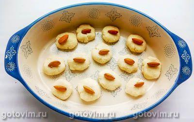 Кокосовое печенье на кокосовом масле с миндалем (без яиц), Шаг 05