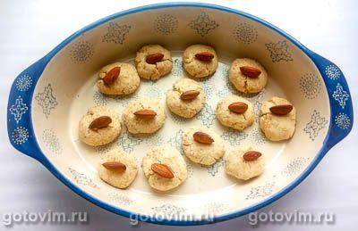 Кокосовое печенье на кокосовом масле с миндалем (без яиц), Шаг 06