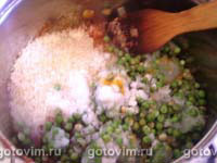 Нежная куриная печень с рисом и горошком, Шаг 04