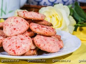 Песочное печенье с сушеной вишней