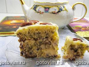 Кокосовый торт с орехами пекан
