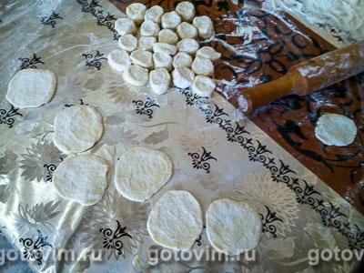 Пельмени с мясом (тесто на сыворотке), Шаг 04