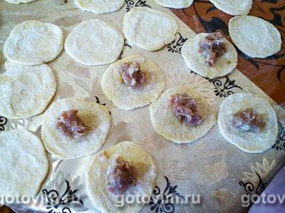 Пельмени с мясом (тесто на сыворотке), Шаг 05