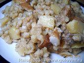 Каша перловая с картофелем и мясом