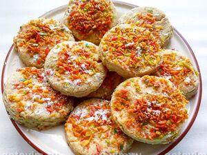 Песочное печенье из ржаной и пшеничной муки