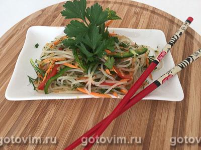 Фотография рецепта Пикантный салат с фунчозой