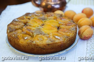 Перевернутый пирог с абрикосами  . Фотография рецепта