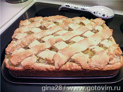 Пирог с ананасовой начинкой. Фотография рецепта