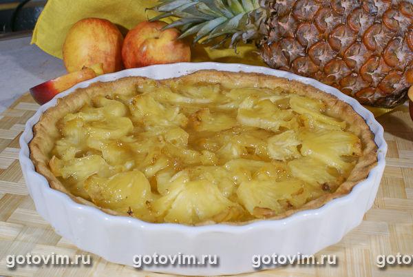 песочный торт с ананасом рецепт