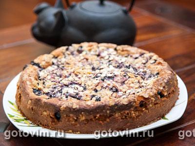 Пирог с черникой. Фотография рецепта