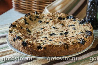 Пирог с черной смородиной фото рецепт