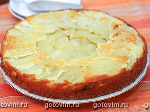 Заливной пирог с картофелем и белыми грибами