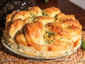 Пирог с брынзой и рукколой