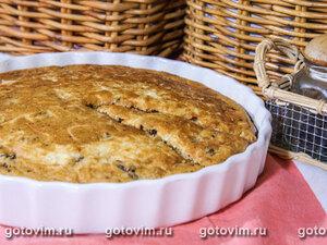 Кукурузный пирог с грибами и сыром