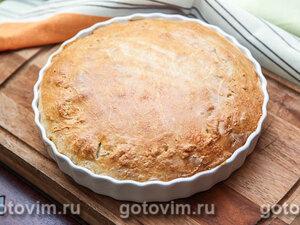 Дрожжевой пирог с курицей, рисом и яйцом