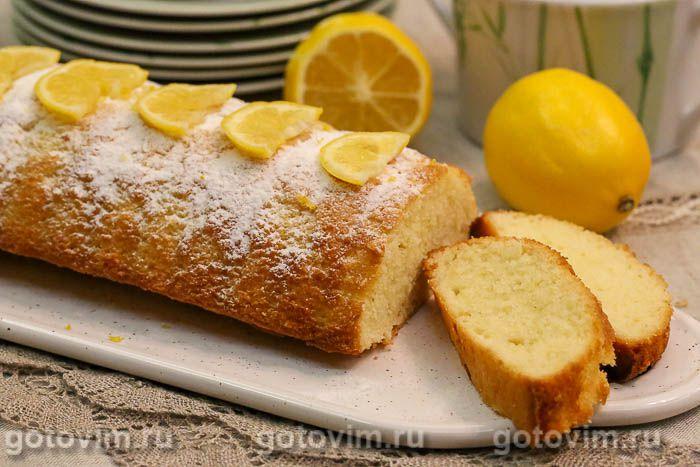 Лимонный кекс на кефире
