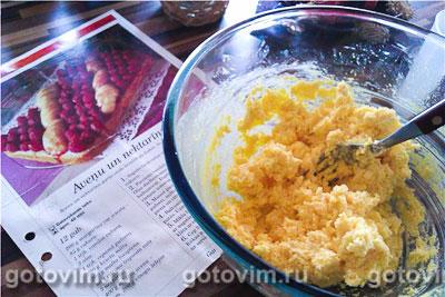 Пирог с малиной и персиками, Шаг 01