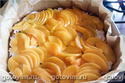 Пирог с малиной и персиками, Шаг 07