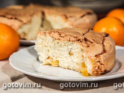 Шарлотка с мандаринами. Фотография рецепта