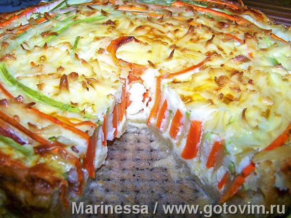 Овощной пирог «Меланж». Фотография рецепта