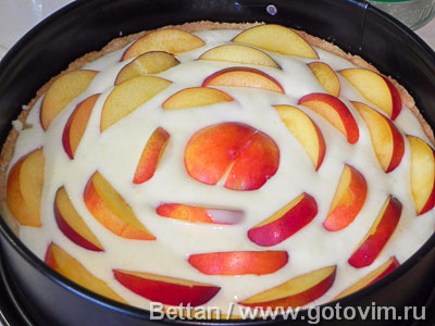 Пирог с нектаринами и йогуртом, Шаг 07