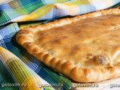Пирог с опятами и сыром