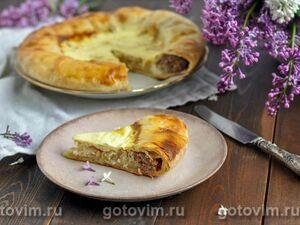 Мясной пирог с двумя начинками