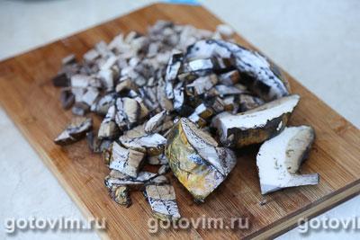 Плетеный пирог из хрущевского теста с картофелем и грибами, Шаг 03