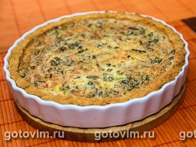 Сырный пирог с зеленью. Фото-рецепт