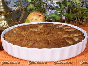 Шоколадный пирог с грушами и коричневым сахаром