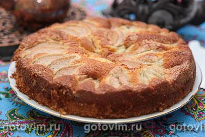 Пирог грушевый. Фотография рецепта