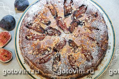 Пирог с инжиром и франжипаном. Фотография рецепта
